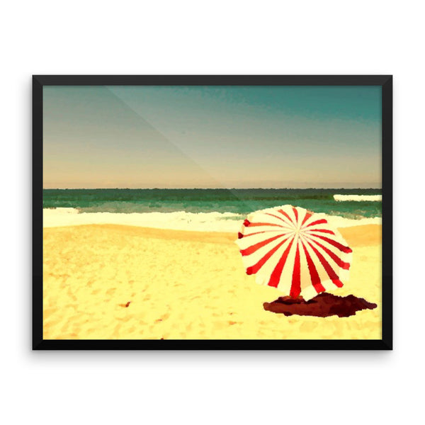 Framed poster(Beach Umbrella)