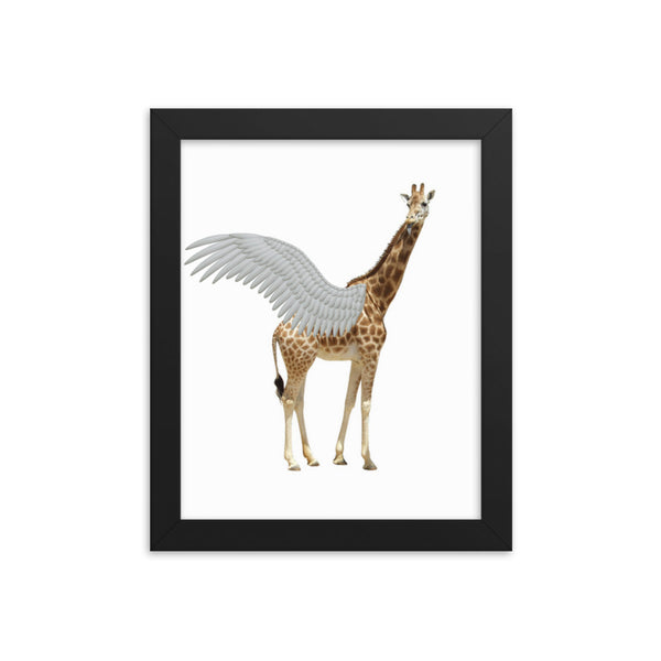 Framed photo paper poster(Girafegasus) - JenniPaintings-FoundTreasures
