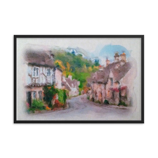 Framed poster print(Old Cottage) -JenniPaintings Found Treasures