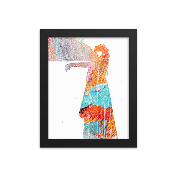 Colorful Lady(Framed poster) - JenniPaintings-FoundTreasures