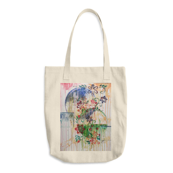 Cotton Tote Bag(Deminsional Dreams)