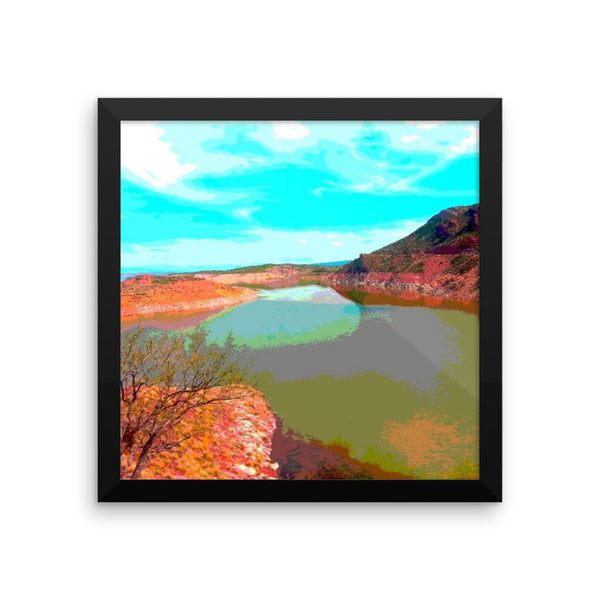Framed photo paper poster(San Carlos Lake)