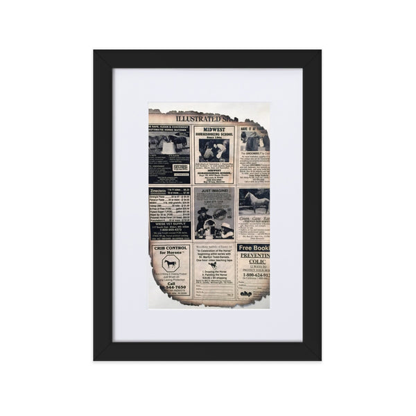 Vintage clipping(Matte Paper Framed Poster With Mat Print)