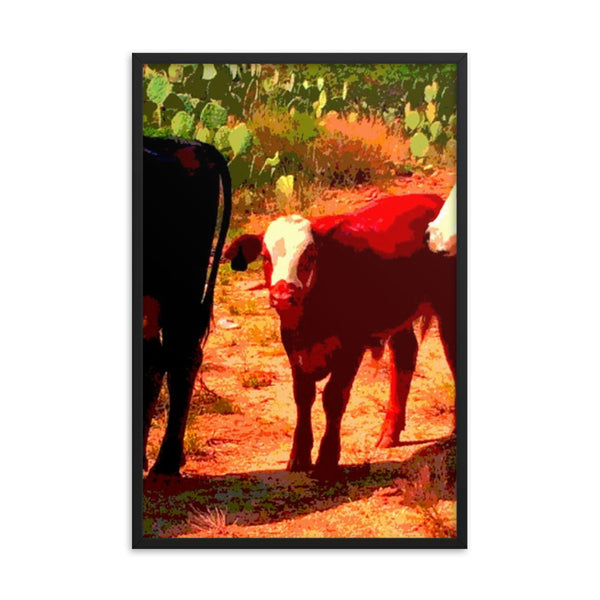 Red Calf(Framed poster print)