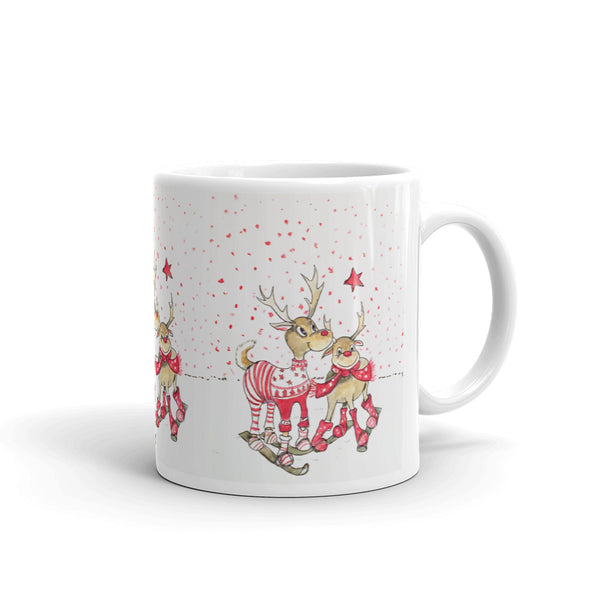 Merry Deer(Mug) - JenniPaintings-FoundTreasures