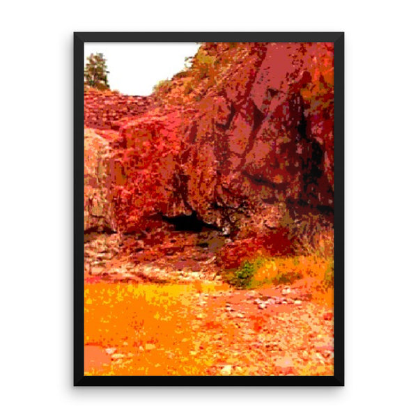 Framed poster Print(Little Water hole) - JenniPaintings