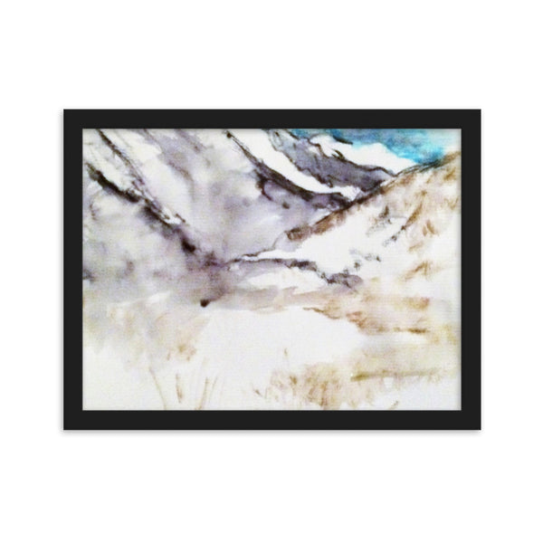 High Mountain Snow(Framed matte paper poster)