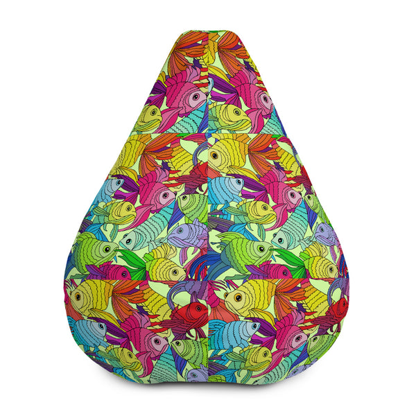 Colorful fish(All-Over Print Bean Bag Chair w/ filling) - JenniPaintings-FoundTreasures