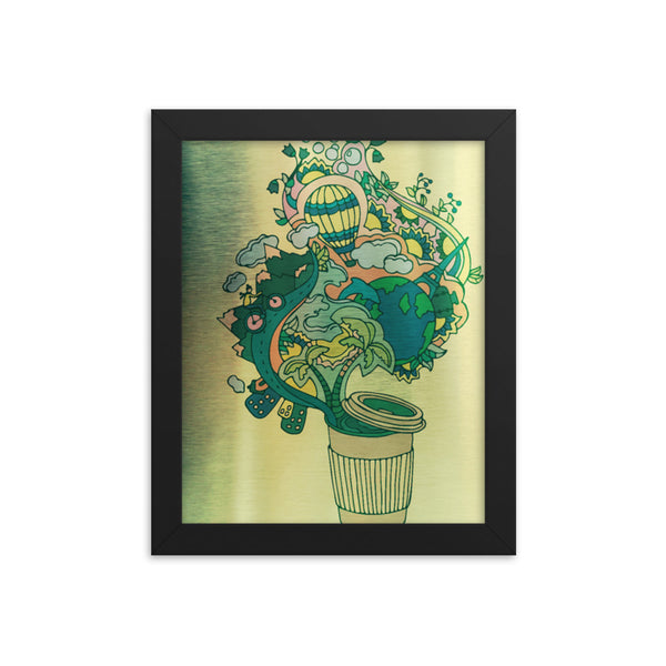 World in a Cup (Framed Poster print)