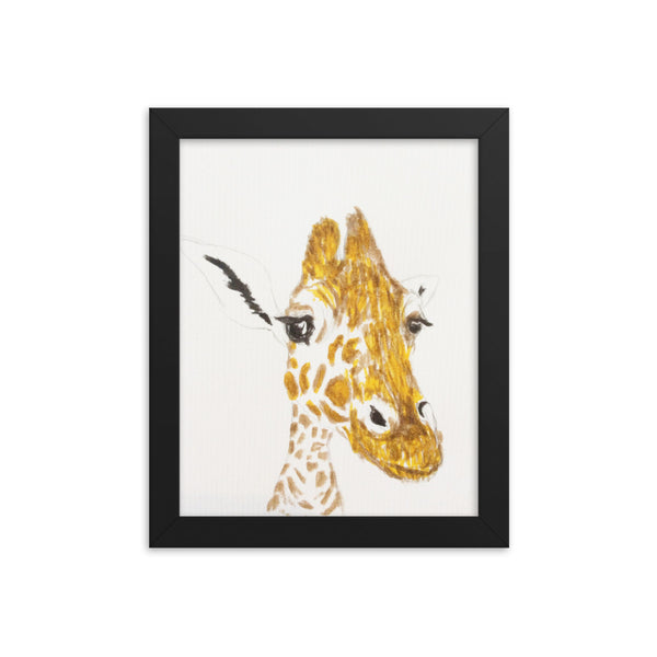 Giraffe Joe(Framed poster)