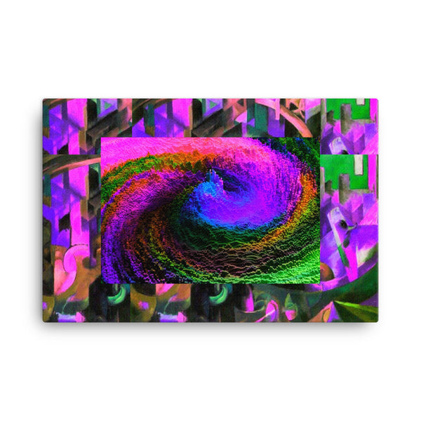 Canvas Print(Colors from fantasy) - JenniPaintings