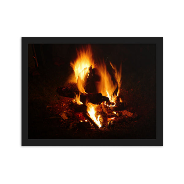 Head of Fire(Framed matte paper poster)