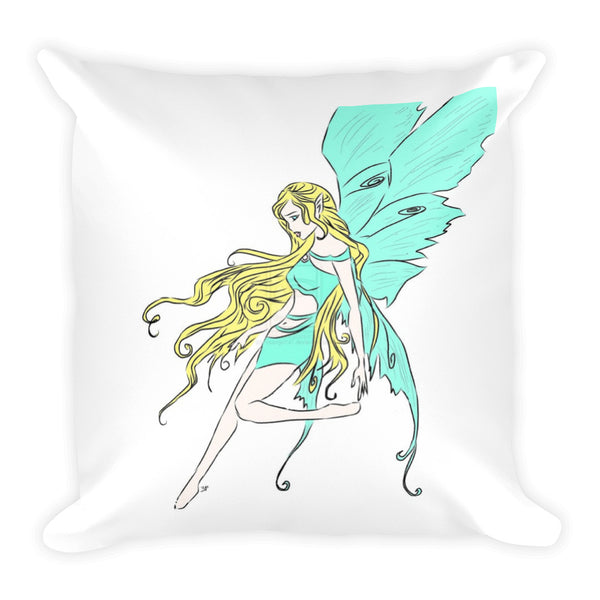 Square Pillow(Fairy Tale) -JenniPaintings Found Treasures