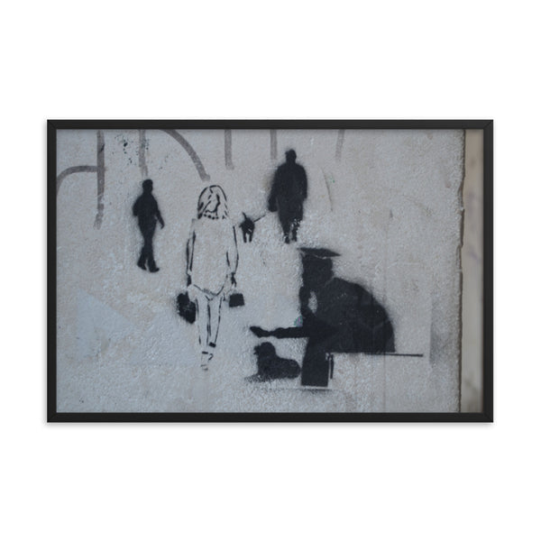 Framed poster print(The street) -JenniPaintings Found Treasures