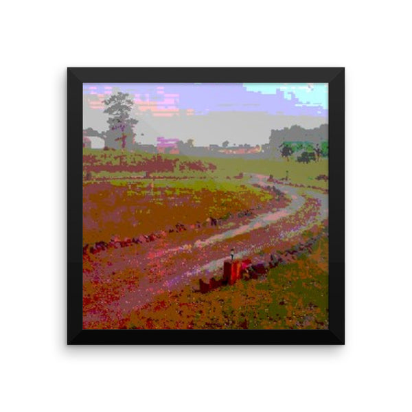 Framed poster print(The Road)