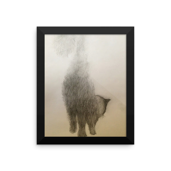 Framed poster print(My Fluffy) - JenniPaintings