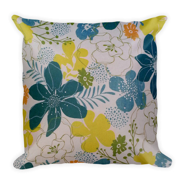 Square Pillow(Blue Tulips)
