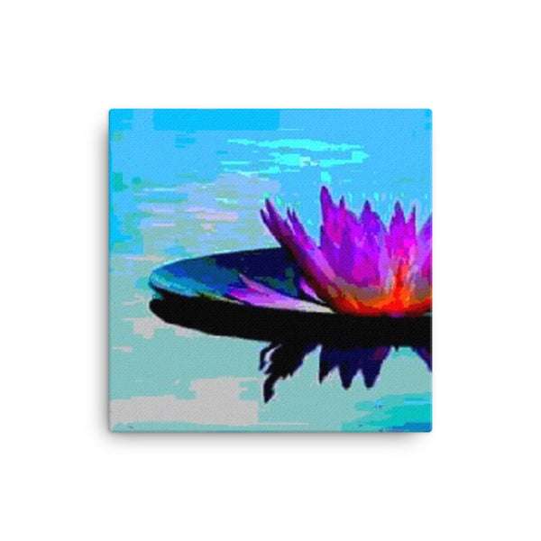 Canvas print (Lilly in the water)