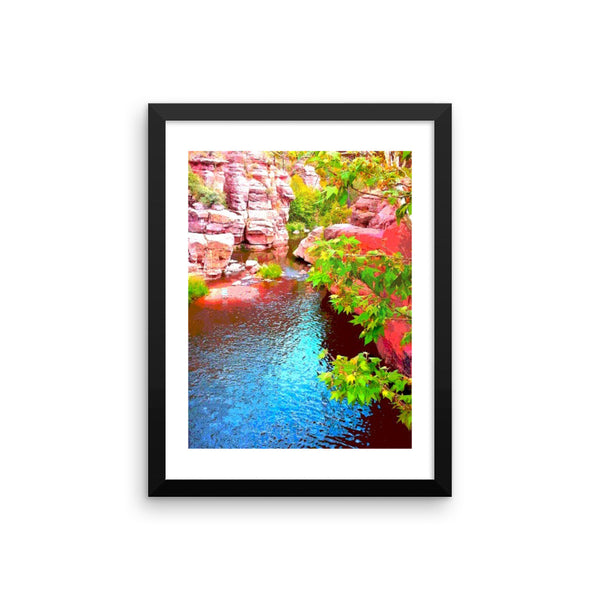 Framed poster print (Sedona Creek)