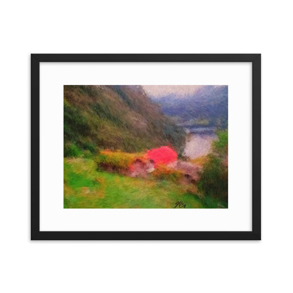 Framed poster print(Home on the hill) - JenniPaintings