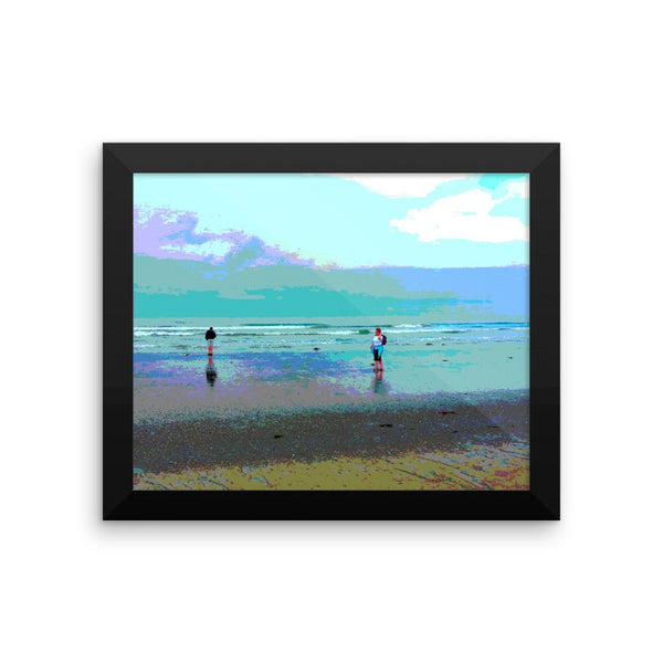 Framed poster print (the couple)