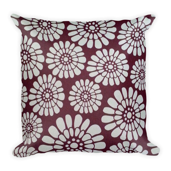 Square Pillow(White Sunflowers)