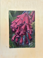 Pink Bonnets(wood Art) -JenniPaintings Found Treasures