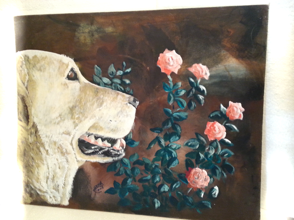 Pink Roses and Polar - JenniPaintings