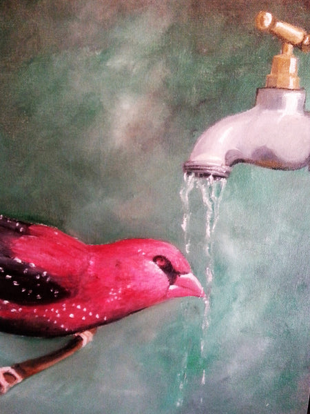 Red Avadavat - JenniPaintings