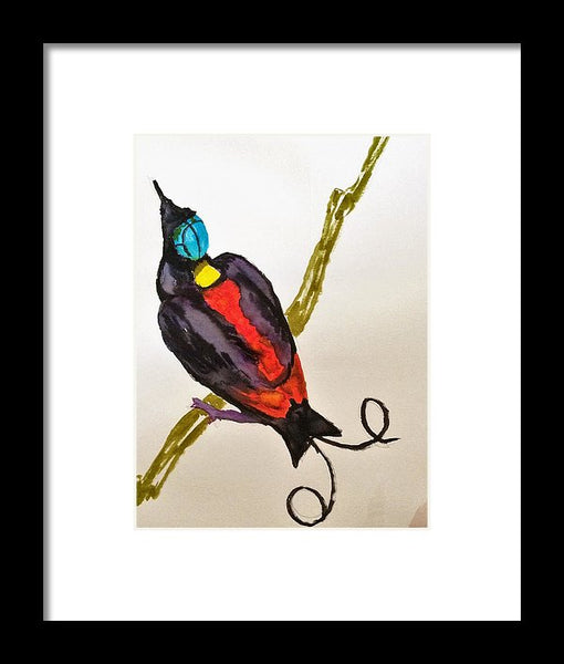 Secret Bird Of Paradise - Framed Print -JenniPaintings Found Treasures