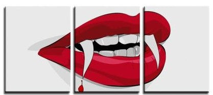 She Vampire(3 Panels Canvas Print)