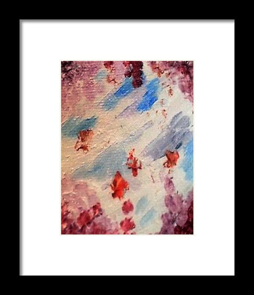 Sky Through Blooms - Framed Print -JenniPaintings Found Treasures