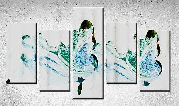 5 Panels Canvas Prints(wave of Dreams) - JenniPaintings-FoundTreasures