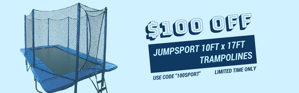 JumpSport trampoline with net enclosure for sale best price available online with free shipping and no sales tax