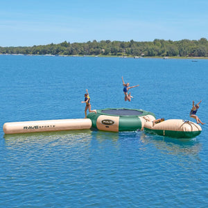 RAVE Sports Aqua Jump 150 with Launch and Log Northwoods Water Trampoline For Sale Best Price Online