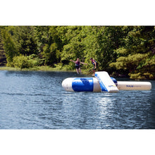 RAVE Sports Splash Zone Plus 12' with slide and log water trampolines for sale