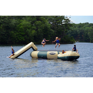 RAVE Sports Bongo 20 w/Slide and Launch Northwoods water trampoline for sale