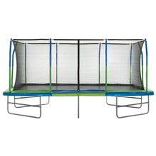 Upper Bounce Mega Outdoor Trampoline with Fiber Flex Enclosure System 10' X 17'
