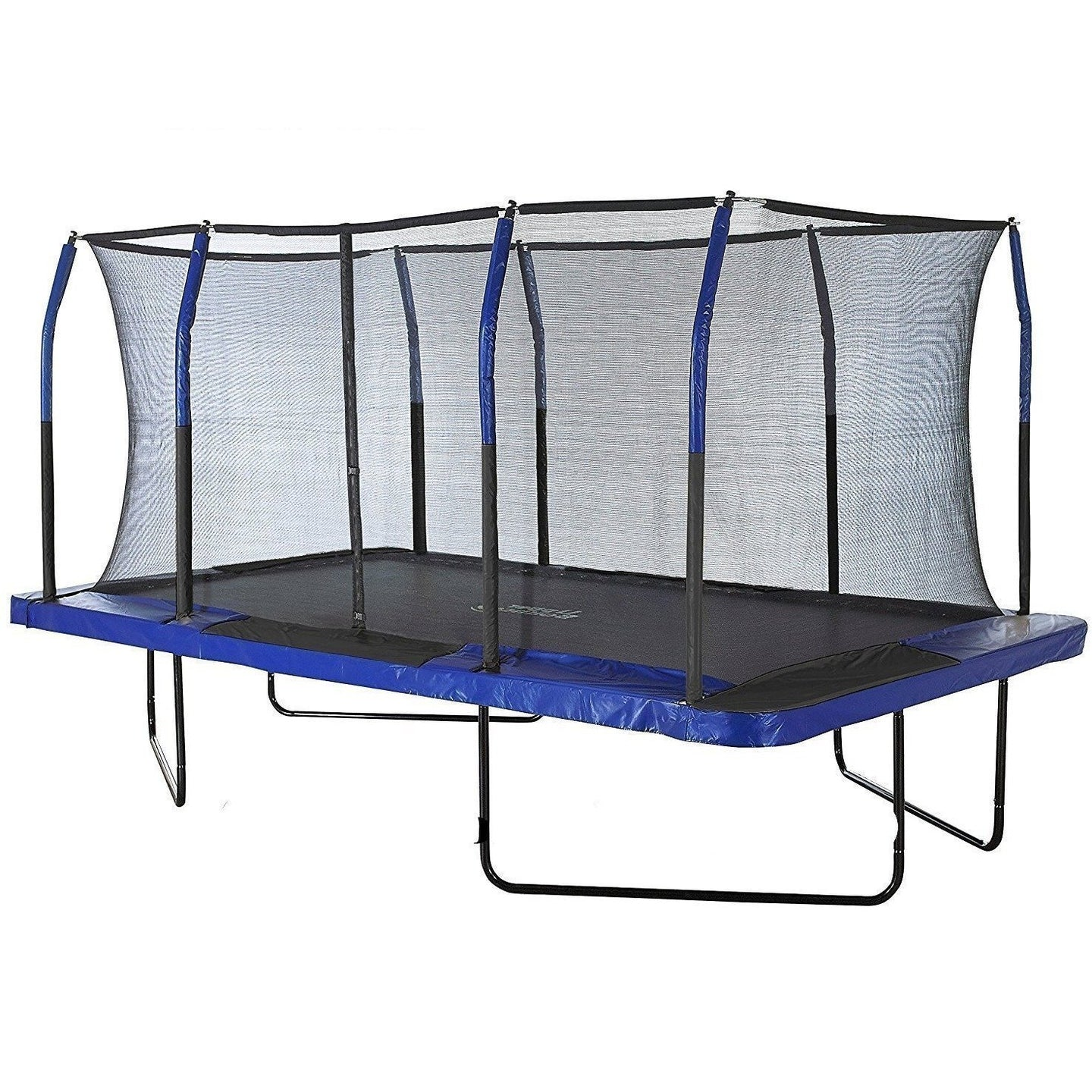 Upper Bounce Mega 8ft X 14ft Rectangular Trampoline with Net Enclosure
