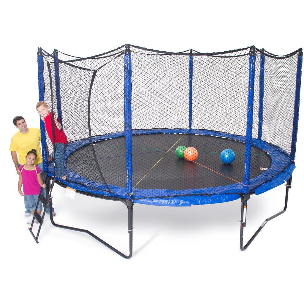 12 Foot Trampoline By Jumpsport: JumpSport 14ft StagedBounce Trampoline With Net Enclosure