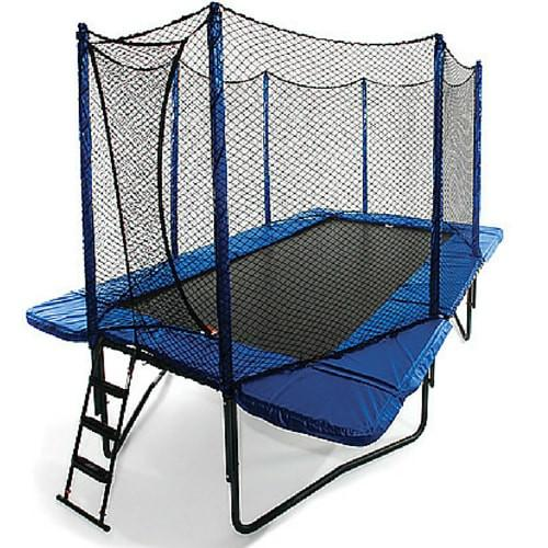 JumpSport 10ft x 17ft StageBounce Rectangular Trampoline with Net Enclosure