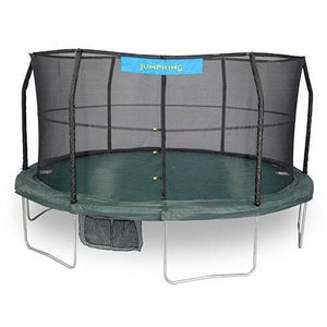 JumpKing 15ft Round Trampoline with Net Enclosure