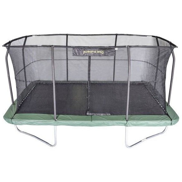 JumpKing 10ft X 15ft Rectangular Trampoline with Net Enclosure