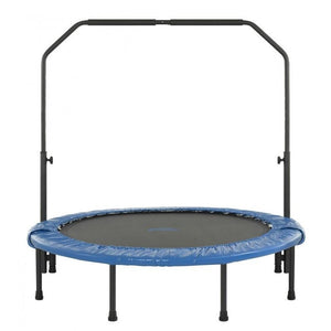 "Upper Bounce 48"" Mini Foldable Rebounder Fitness Trampoline with Adjustable Handrail"