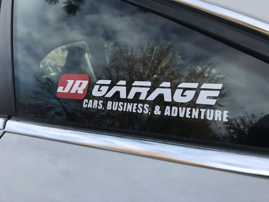 JR Garage Decal