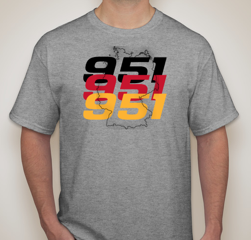 Porsche 951 Flag Outline Short Sleeve
