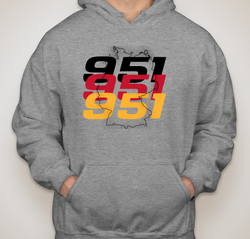 Porsche 951 Flag Outline Sweatshirt