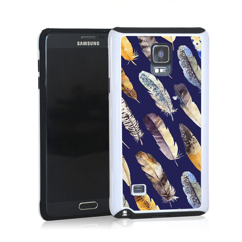 Feather pattern in navy blue for Note 4