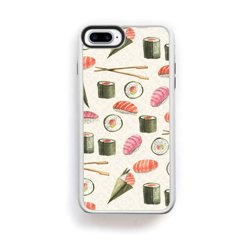 Japanese sushi and chopsticks on creme for iPhone 7 Plus
