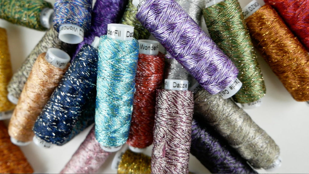 Introducing Razzle™ & Dazzle™: 8wt Rayon & Rayon + Metallic Threads